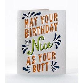 Elum Birthday Card - Nice Butt