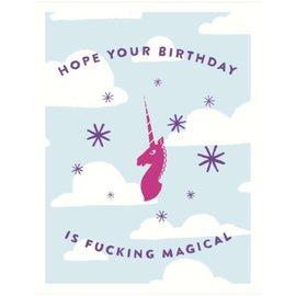 Seltzer Birthday Card - Fucking Magical Unicorn
