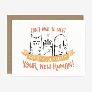 Paper Pony Co. Baby Card - New Human Baby