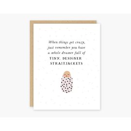 Party of One Baby Card - Straightjackets