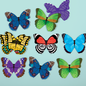 Chronicle Books Shaped Butterflies Memory Game