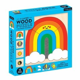 Chronicle Books Rainbow Friends Wooden Puzzle