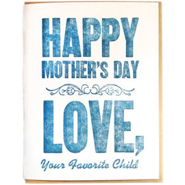 Zeichen Press Mother's Day - Favorite Child