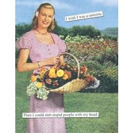 Anne Taintor Birthday Card - Unicorn