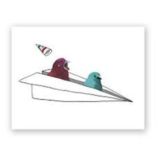 Mincing Mockingbird Birthday Card - Coming In Hot