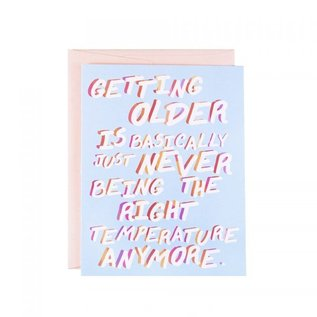 The Witty Gritty Paper Co. Birthday Card - The Right Tempurature