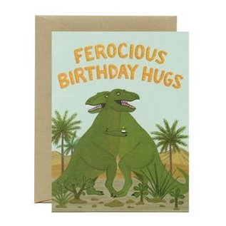 Yeppie Paper Birthday Card - Ferocious Birthday Hugs