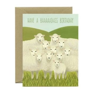 Yeppie Paper Birthday Card - Badass Sheep