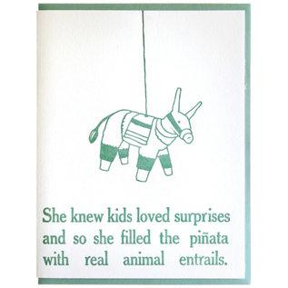 Zeichen Press Birthday Card - Surprise/Pinata