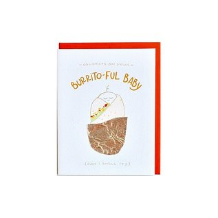 Cracked Designs Baby Card - Burrito-ful Baby