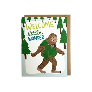 Kat French Design Baby Card - Welcome Wonder Sasquatch