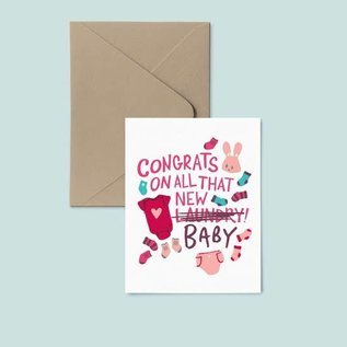 Pier Six Press Baby Card - All That Laundry