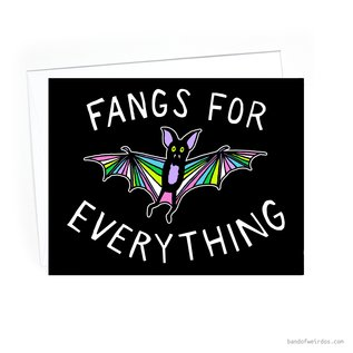Band of Weirdos Thank You Card - Fangs For Everything