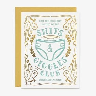 Paper Pony Co. Baby Card - Shits & Giggles