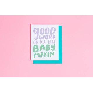 Craft Boner Baby Card - Baby Makin'