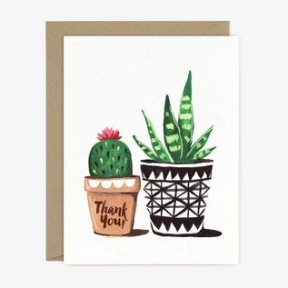 Paper Pony Co. Thank You Card - Plants
