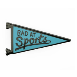 Badge Bomb Bad At Sports Enamel Pin