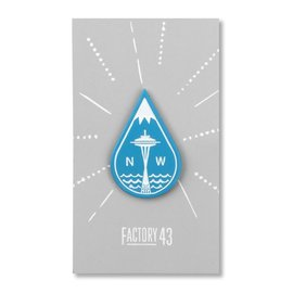 Factory 43 Seattle Drop Enamel Pin