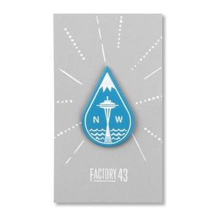 Factory 43 Seattle Drop Enamel Pin