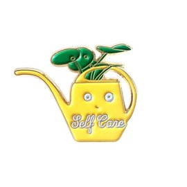 ilootpaperie Self Care Vintage Watering Can Enamel Pin