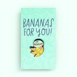 Hello Lucky / Egg Press Bananas Enamel Pin
