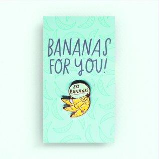 Hello Lucky / Egg Press Bananas Enamel Pin