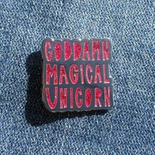 Near Modern Disaster Goddamn Magical Unicorn Enamel Pin