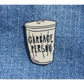 Near Modern Disaster Garbage Person Enamel Pin