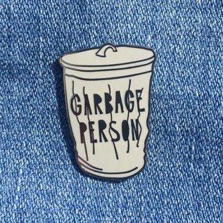 Near Modern Disaster Garbage Person Enamel Pin