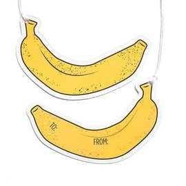 Smarty Pants Paper Gift Tags - Banana