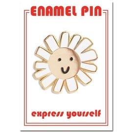 The Found Daisy Smiley Face Enamel Pin