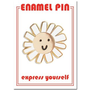 The Found Daisy Smiley Face Enamel Pin