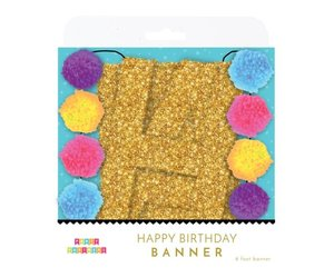 Pom Poms Banner Personalized Birthday Party Banner Pom Pom Garland Rainbow Garland Glitter HAPPY BIRTHDAY Banner Lowercase Letters
