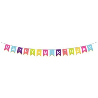 Party Partners Bold & Bright Happy Birthday Banner