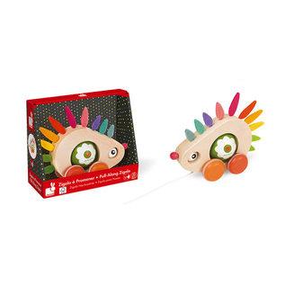 Janod Toys Zigolos Pull Along Hedgehog
