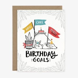 Paper Pony Co. Birthday Card - Birthday Goals