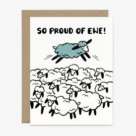 Paper Pony Co. Congrats Card - So Proud of Ewe