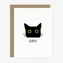 Paper Pony Co. Greeting Card - OMG Cat
