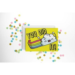 Fun Club Congrats Card - You Did It Rainbow