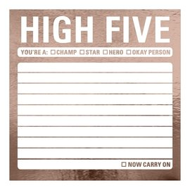 Knock Knock High Five Metallic Sticky Note