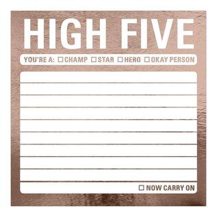 Knock Knock High Five Metallic Sticky Notes