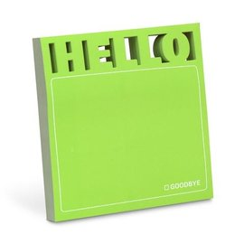 Knock Knock Hello Diecut Sticky Notes
