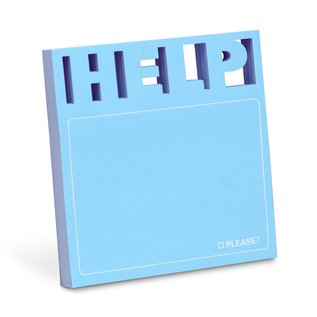 Knock Knock Help Diecut Sticky Notes