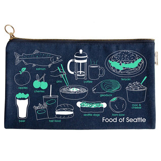 Maptote Food of Seattle Pouch