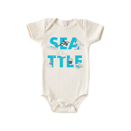 Maptote Seattle Font Onesie