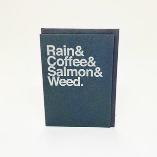 Annie's Art & Press Greeting Card - Seattle Icons Helvetica