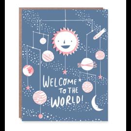 Hello Lucky / Egg Press Baby Card -  Solar System