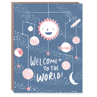 Hello Lucky / Egg Press Baby Card -  Solar System