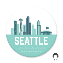 Badge Bomb WA Seattle Skyline Magne