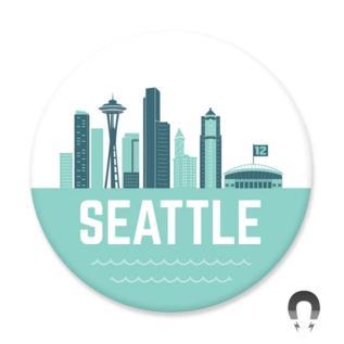Badge Bomb WA Seattle Skyline Magne